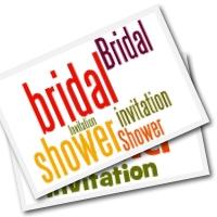 Free printable bridal  invitations - simple flower designs