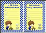 First Birthday Invitation thumbnail