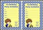 First Birthday Invitation thumbnail