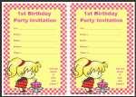 Free printable 1st birthday invitation thumbnail