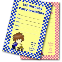 1st Birthday Printable Invitations. Free.