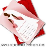 Free Printable Blank Bridal shower invitation - bride design