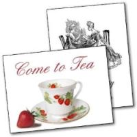 Free Printable Tea Party invitations - mixed designs