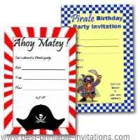 Pirate Party Invites