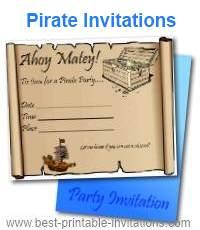 Free Printable Pirate Invitations