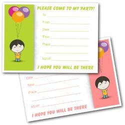 Birthday Invitations Free - Kids Printable Invites