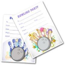 Free Printable Kids Bowling Invitations