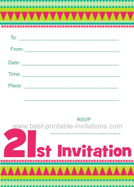Free Printable 21st Birthday Cards Rome Fontanacountryinn Com
