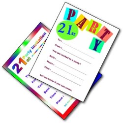 21st Birthday Party Invites