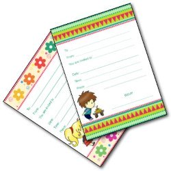 Boy and Girl Party Invitations - Free Printables