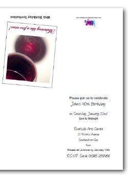 Customized Funny 40th Birthday Invite