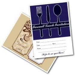 Farewell Lunch Invites - free printable invitations