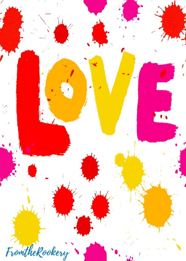 Love printable card red