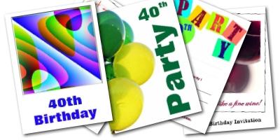 40th Birthday Invitations - Free Printable Invite Cards
