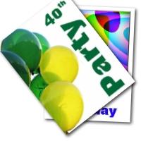40th Birthday Balloons invitation