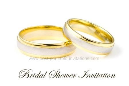 Free Bridal Invitation - wedding rings