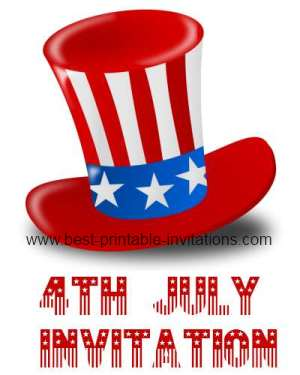 printable 4th of july invitations fourth of july party invites
