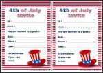 4th of July Party Invitation Card Thumbnail