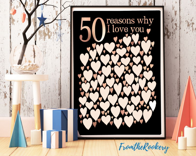 50 Reasons Why I Love You Poster