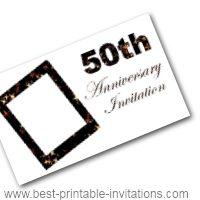 50th Anniversary Invitation - Free Printable Invite Card