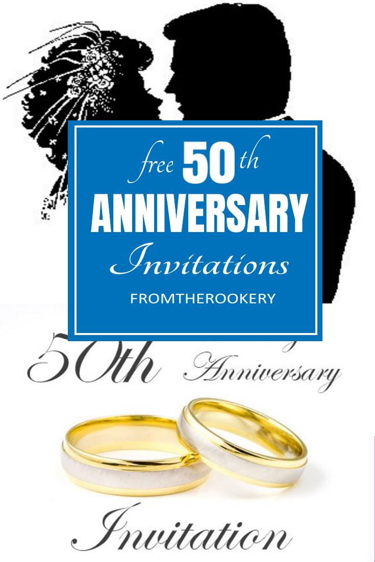 50th Anniversary Invitations