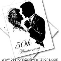 50th Anniversary-invitations - Free Printable Golden Wedding Invites