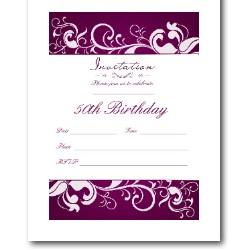 50th birthday party invitation templates free Roho4sensesco