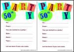 Free Printable 50th Birthday Invite Thumbnail