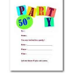 Best 50th Birthday Invitations