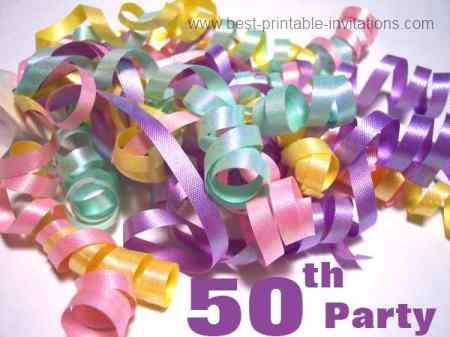 50th birthday party invitations - fiftieth birthday party invites