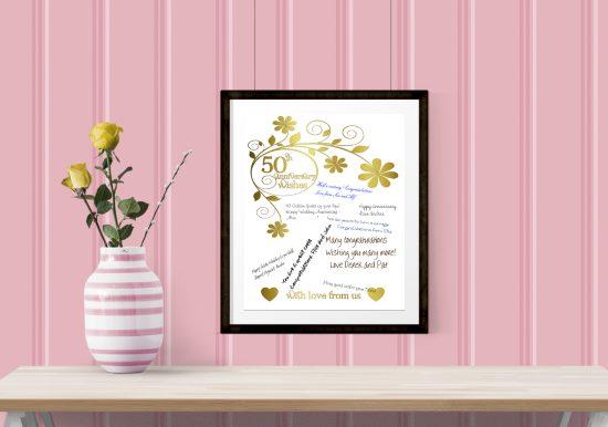 50th Anniversary Gift - Printable