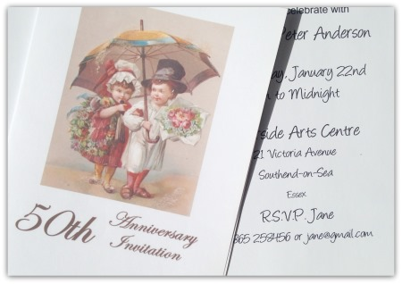 Printable 50th Wedding Anniversary Invitation