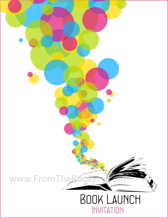 Printable Book Launch Invitation - Free