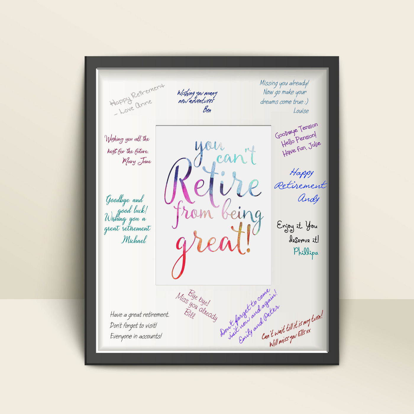 You can't retire from being great - gift print with large mat for signing