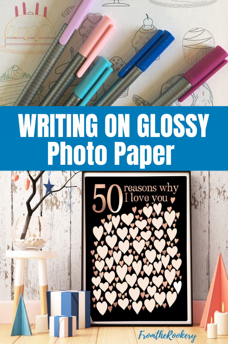 How to write on photo paper