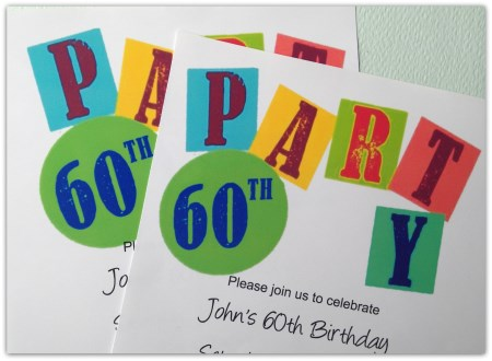 Printable 60th Birthday Party Invitation