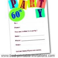 Best 60th Birthday Invitations