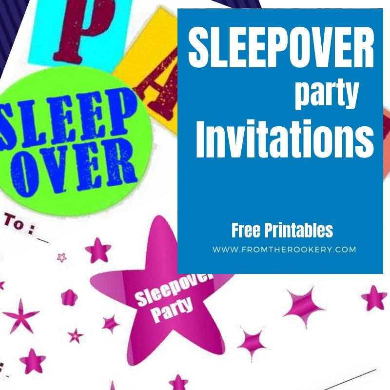 Sleepover Invitations