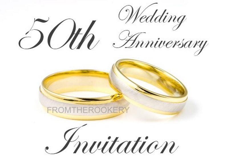 50th Anniversary Invitation - Free Printable Wedding Anniversary Invite Card