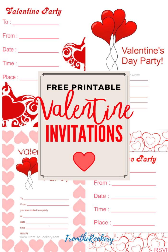 Free Printable Valentines Invitations