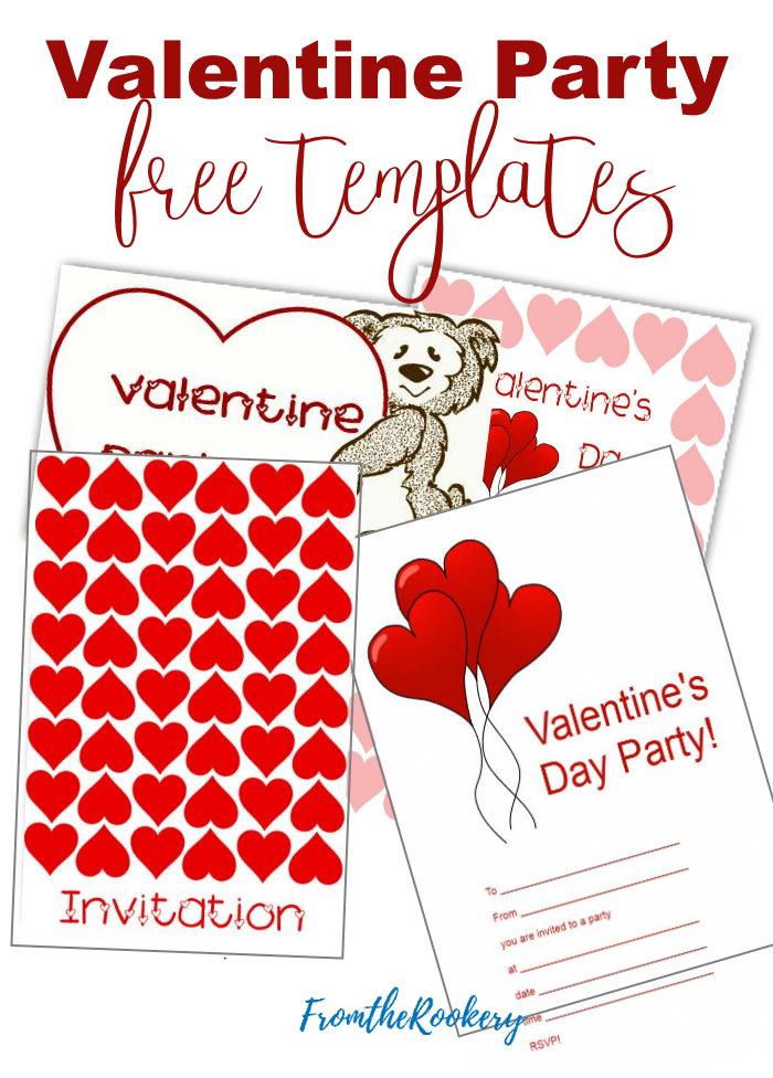 Valentine Party Invitations - Free Templates