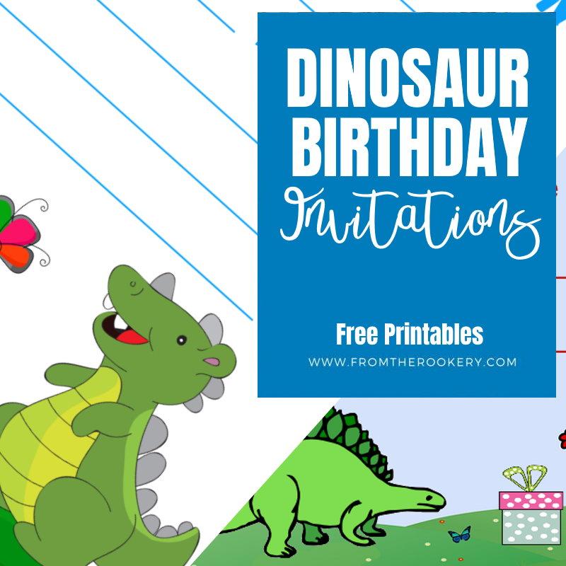 Dinosaur Birthday Party Invitations