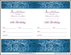 Free printable 80th party invitation