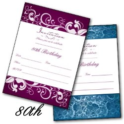 80th Birthday Party Invites