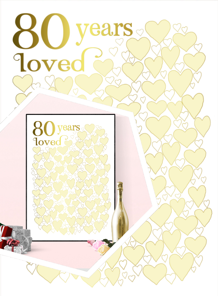 80 Years Loved - 80th Birthday Gift Poster