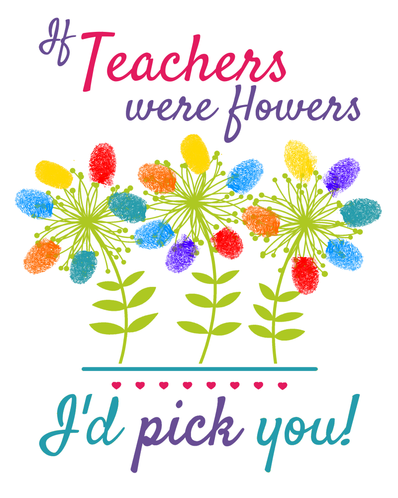 If teachers were flowers, I'd pick you teacher gift