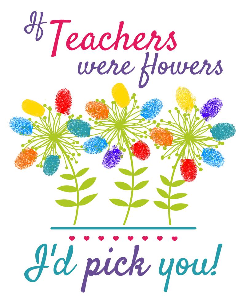 If teachers were flowers, I'd pick you teacher gift