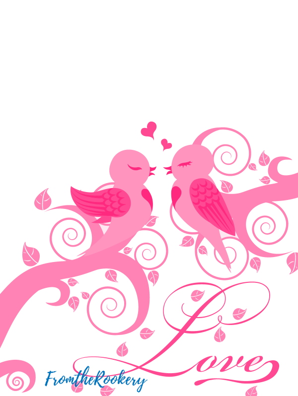 Bluebird printable love card