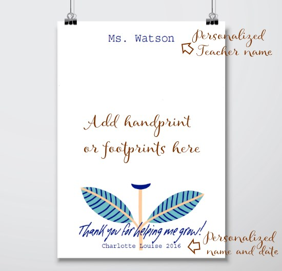 Hanpdrint Art Template - Teacher Thank you Gifts
