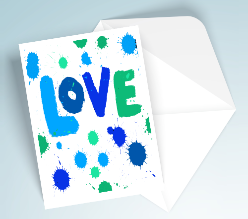 Blue Printable Love Cards